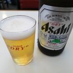中華 ひのまる - 瓶ビール(アサヒスーパードライ)