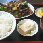 きんちゃん - なすピーマン定食