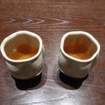 三合菴 - お湯のみもお洒落〜♬