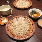三合菴 - ばくれんの片口とお蕎麦