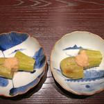 三合菴 - 茄子の揚げ浸し