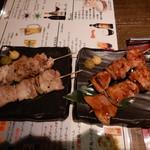 shodaiuomaru - 鶏串と豚串