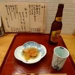 蕎麦処 なが田 - そうつき隊のおつまみとビール