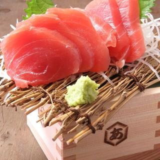 朝獲れ鮮魚を使用した料理