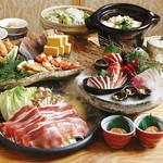 和食海鮮 個室 うおまん 大手町 - 栃木産ハーブ豚の陶板蒸し焼きコース