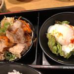 小ぼけ - 豚生姜焼き&温泉玉子