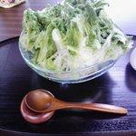 9526324 - 濃抹茶ミルクかき氷