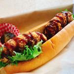 道の駅 ふたつい きみまちの里 - 料理写真:桃豚コロッケドッグ