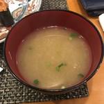玄海鮨 - 共通の浅蜊の味噌汁!