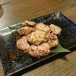 95262525 - 桜姫鶏レバーのレアレア炙り