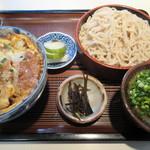 そば福 - 料理写真:【カツ丼定食(ざるそば) 1000円】