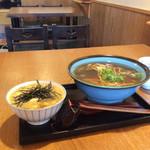 京のそば処 花巻屋 - キヌカケ丼鰊蕎麦セット、1630円