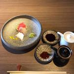 magokorosousakushigeta - 五島うどんランチコース1,944円、刺身