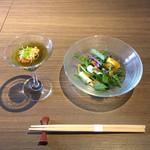 magokorosousakushigeta - 五島うどんランチコース1,944円、先付・前菜