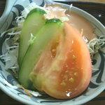 定食 丸仲 - サラダ(昔ながらのドレッシング)