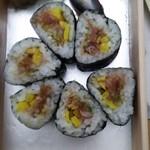 玄海鮨 - 夜桜巻です  醤油かけちゃったんで、色が悪い