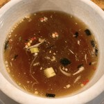 麺屋 卓朗商店 - スープ割り あられ
