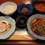 お食事処 肴町 - 肉定食 500円