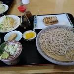 そば路 - 料理写真:ランチ(冷たいそば+サバの塩焼き)980円