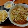 """豪香飯店 - 料理写真:""""ネギそばと半炒飯"""""""