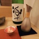 鮨 そえ島 - 黒龍と能作とのコラボした酒器、ステキです(^^)