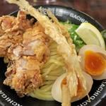 二丁目つけめん ガチ - ・「TERIYAKI DX(\990)」の麺皿アップ。