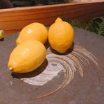 長宗我部 銀座 - 目の前に置いてあったレモン
