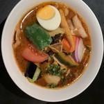 カレー食堂 心 - 17種の野菜のスープカレー トッピングベーコン