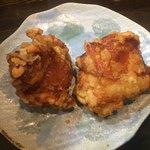 麺や ひなた - 鶏唐揚げ (*´∀`*) ひなたセット