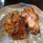 麺や ひなた - 鶏唐揚げ 内部 いけますね ( ´θ`)