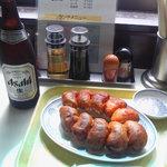 9531428 - 餃子とビール、ベストカップル