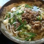 三国一 - ランチにて 肉うどんセット(ミニサラダ)