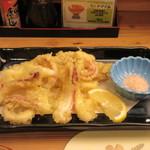 味処 大丸 - 姿造りの後造りは天ぷらで