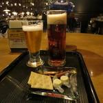 95315262 - 地ビール飲み比べとおつまみのセット 1100円(2018年10月)
