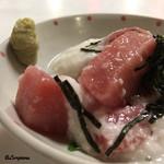 レストラン熊さん - 料理写真:塩竈産メバチマグロ中トロ 山かけ