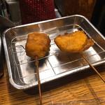串かつ 越源 - 豚バラ(薄味)、たまねぎ