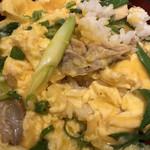 郷どり 燦鶏 - 九条ねぎの塩親子丼 アップ