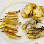 Ichiraku - 上海蟹の姿蒸しのバラシ完了