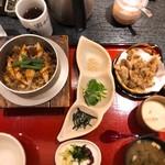 小魚 阿も珍 - 炙り穴子釜めし(1,200円税込)