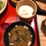 小魚 阿も珍 - 茶碗蒸しとお味噌汁