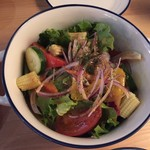 95323892 - 「旬野菜のオニオンサラダ」