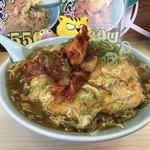 ポパイ - 料理写真:天津風揚げかたやきらーめん丼680円