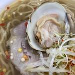 らぁめん登里勝 - 新鮮で美味しい蛤とローストポーク(大つけ麺博2018第四陣)