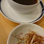十割そば 乃庵 - そばコーヒーとそばの素揚げ