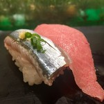 すしざんまい - 秋刀魚、中とろ