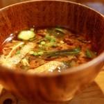 新屋食堂アヤナイ - 具沢山味噌汁