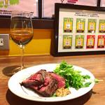 大阪エアポートワイナリー - ビステッカと白ワインは、トレッビアーノ