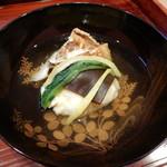 95342439 - 徳島産松茸と足赤海老の真薯椀