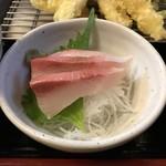 天ぷら三丁目 - お造り付き