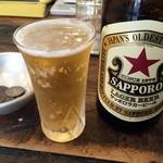 煮込みとお惣菜スタンド ウエトミ - サッポロ「クラシックラガー」中瓶。600円也。
